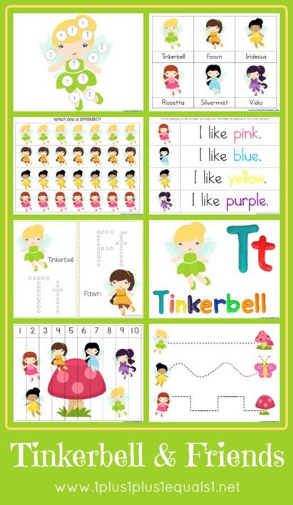Free Tinkerbell Friends Printable Pack