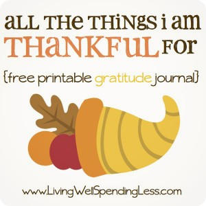 Free Gratitude Journal: All The Things I'm Thankful For