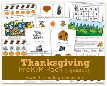 Thanksgiving Printables: FREE Expanded PreK/K Printable Pack