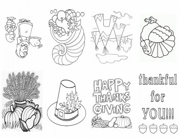 Free Printable Thankful Coloring Booklet