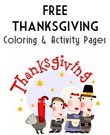 Thanksgiving Coloring and Activity Pages
