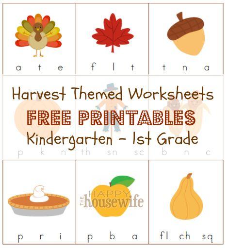 Harvest Themed Worksheets