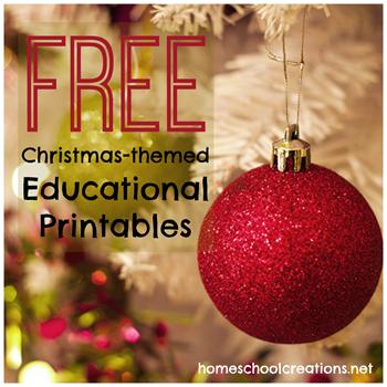 HUGE List of Christmas Theme Printables List and Linkup from Homeschool Creations