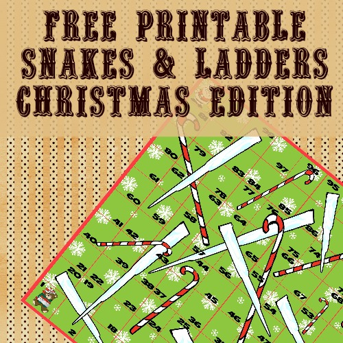 Free Christmas Snakes Ladders Printable Game