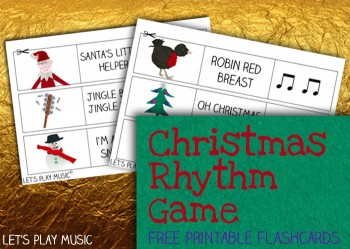 Free Music Flashcards: Christmas Rhythm Game