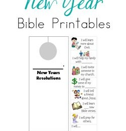Free New Year's Bible Printables