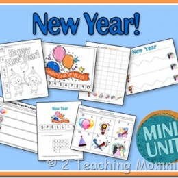 New Year Worksheet Pack for Kids