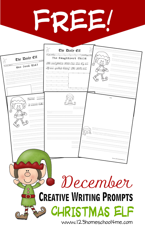 Creative Writing: Free Christmas Elf Writing Pages | Free ...