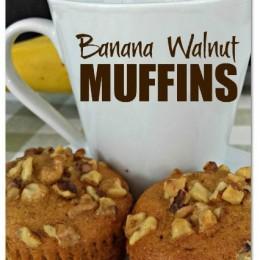 Banana Walnut Muffins Recipe