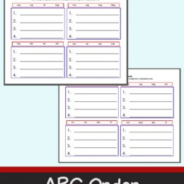 ABC Order with CVC Words Worksheets