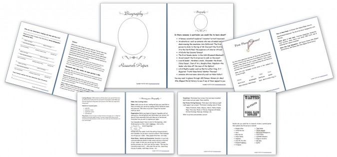 Biography Research Paper Pack