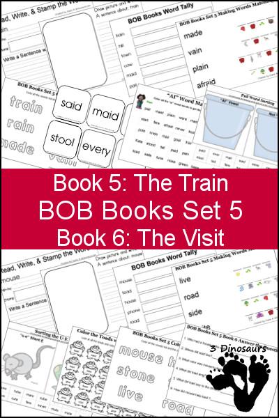 BOB Books 5 and 6 Printables