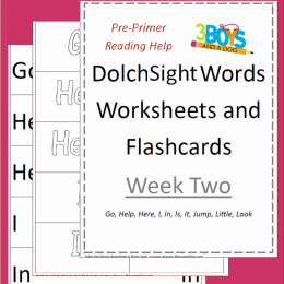 Dolch Sight Words Worksheets & Flashcards