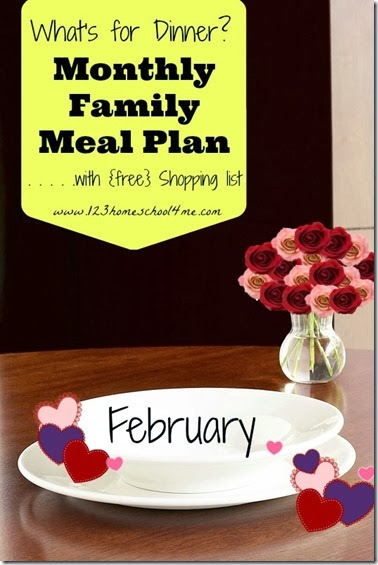 Free February Meal Plan