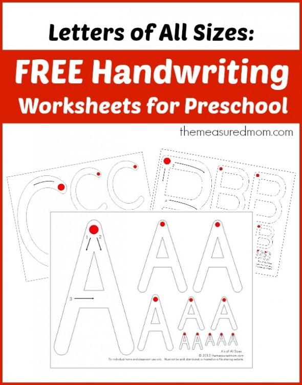 Free Preschool Handwriting Worksheets | Free Homeschool ...
