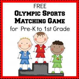 Free Matching Game Winter Olympics