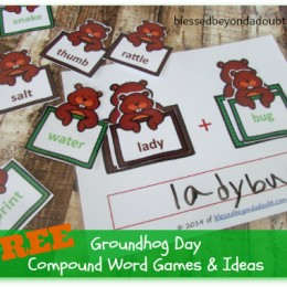 Groundhog Day Teaching Compound Words