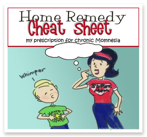 Printable Home Remedy Cheat Sheet