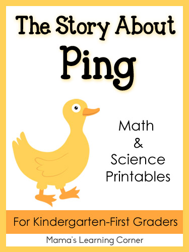 The Story About Ping Math and Science Printables