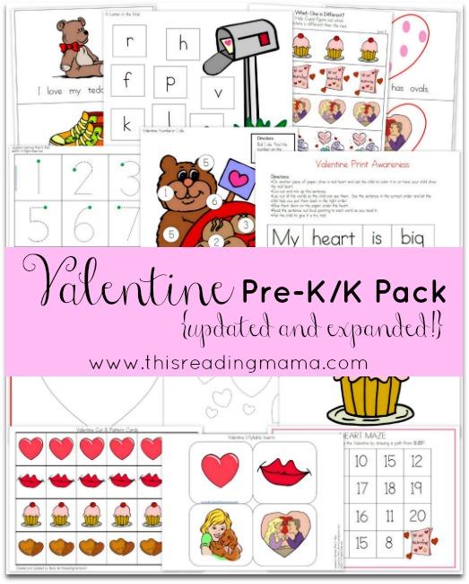 Valentine Pre-K/Kindergarten Packet