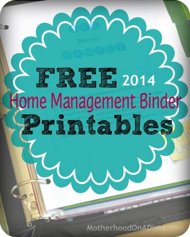 free Home Management Binder