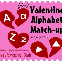 Free Valentine Alphabet Match-Up Printables Download