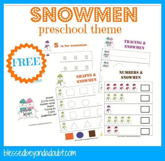 snowmen preschool
