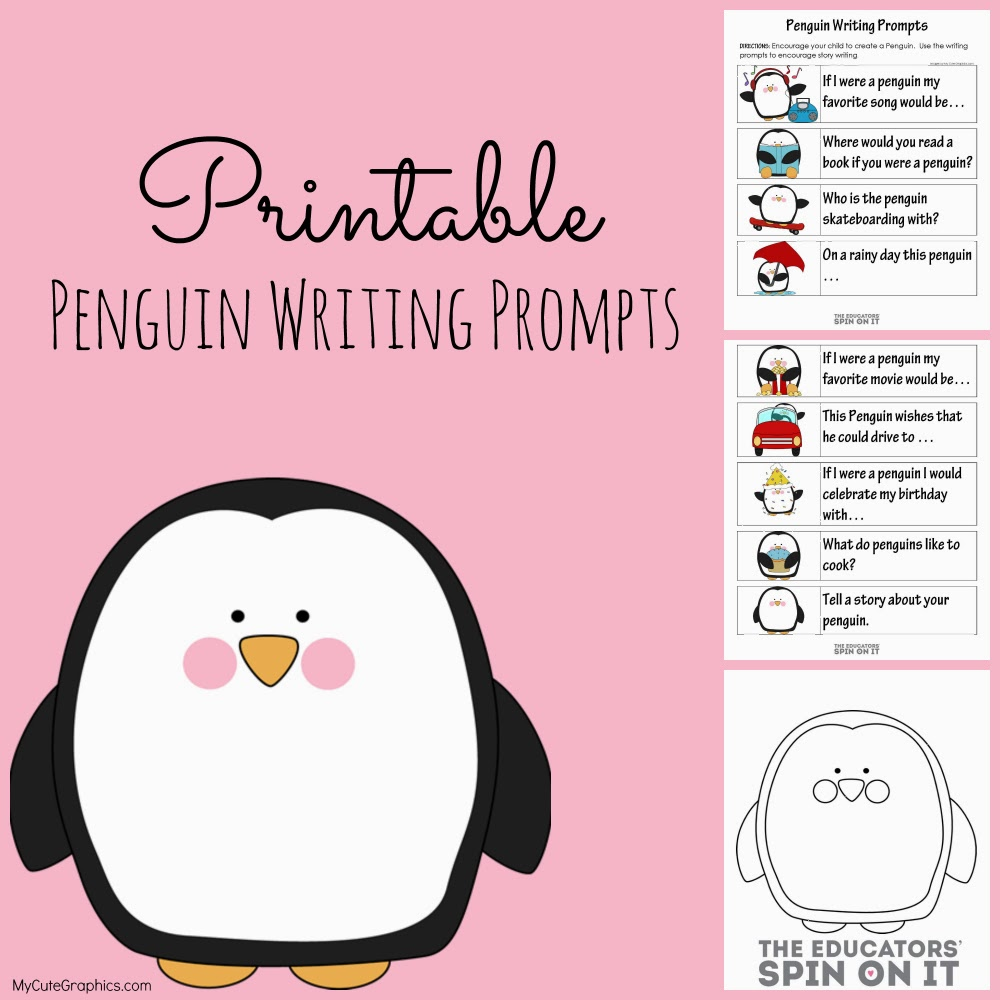graphic relating to Free Printable Writing Prompts referred to as Free of charge Penguin Composing Prompts Worksheets