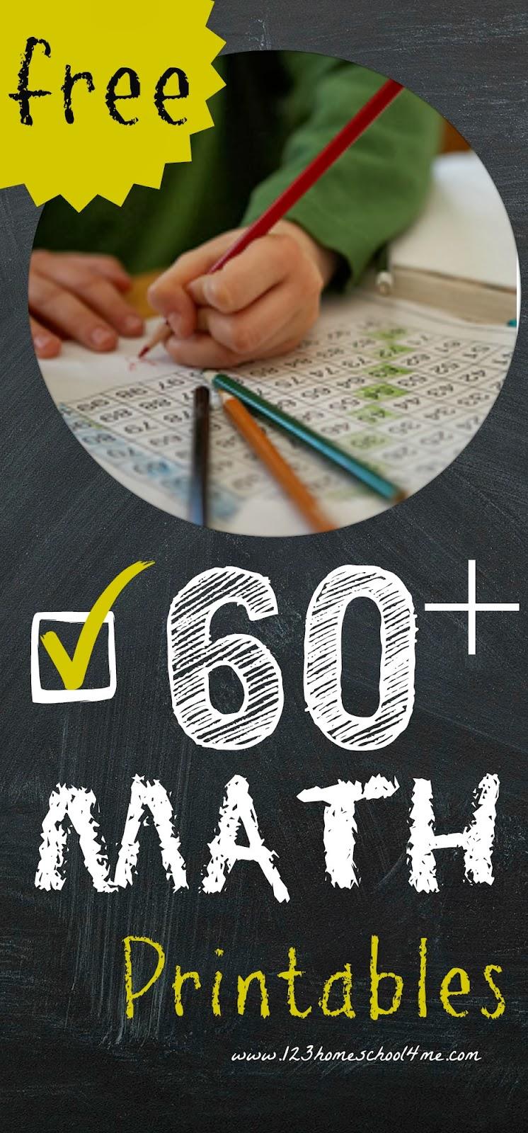 Math Worksheets: Over 60+ Free Math Printables PreK-3rd ...