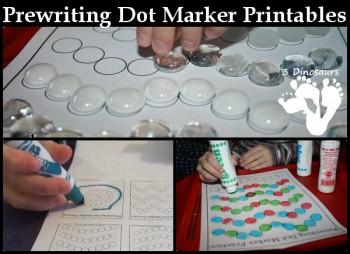 Prewriting Dot Marker Printables