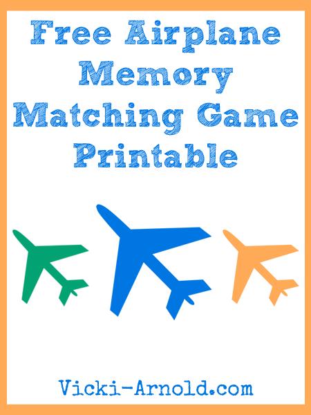 Airplane Memory Matching Game Printable