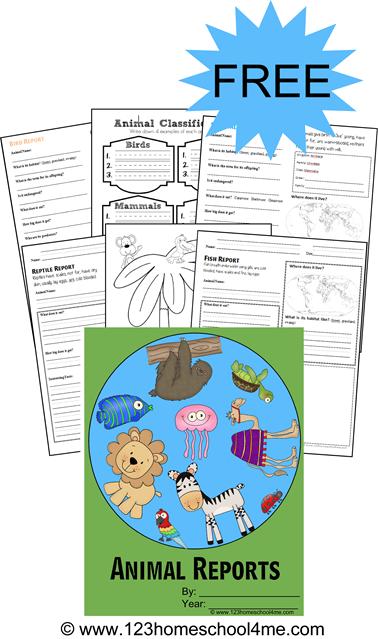 Animal Report Form Printables