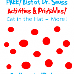 FREE List of Dr. Seuss Activities and Printables: Cat in the Hat + More!