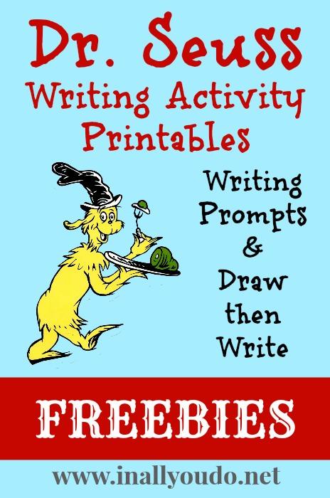 Dr. Seuss Writing Activities Printables - Free!