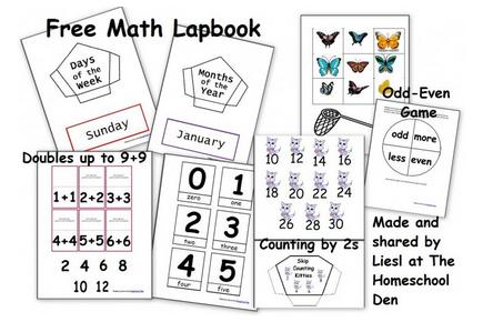 Free Math Lapbook