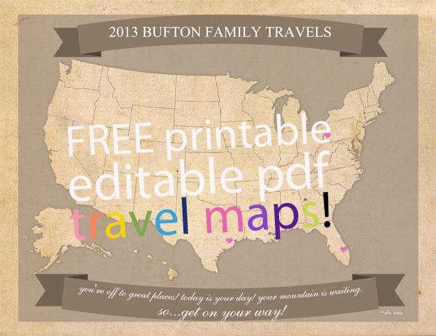 Free Printable Editable Travel Maps