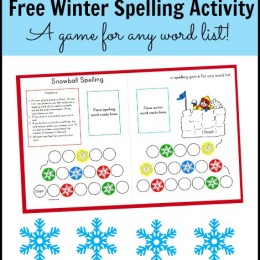 Spelling: Free Winter-Themed Activity (a game for any word list!)