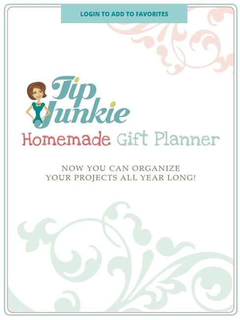 Homemade Gift Planner