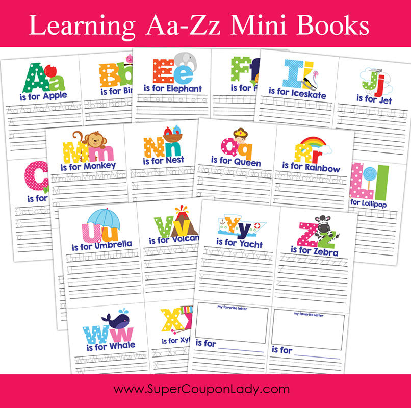 Learning A to Z Mini Books