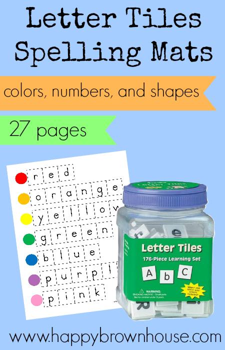 Letter Tiles Spelling Mat Printable