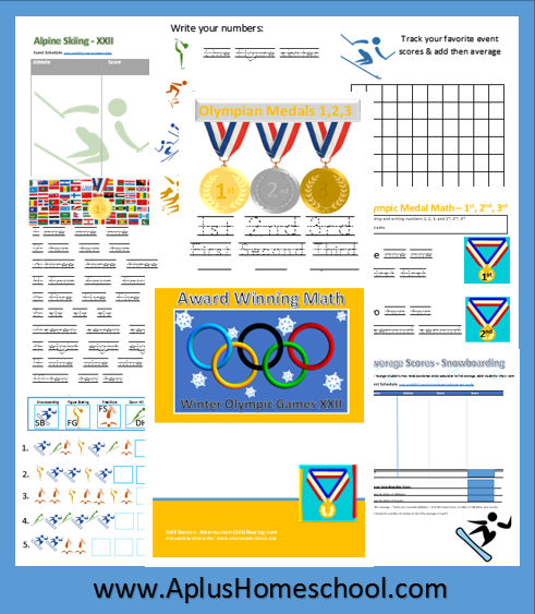 photo about Printable Olympic Schedule identify Cost-free Homeschool Printables Olympic Math Pack
