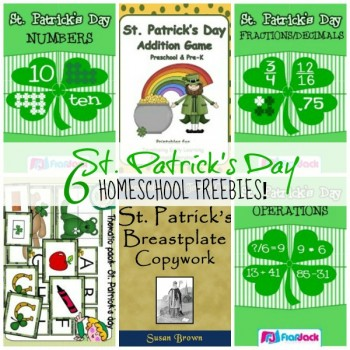 6 St. Patrick's Day Homeschool Freebies on Currclick!