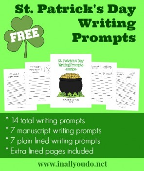 FREE Writing Prompts for St. Patrick's Day