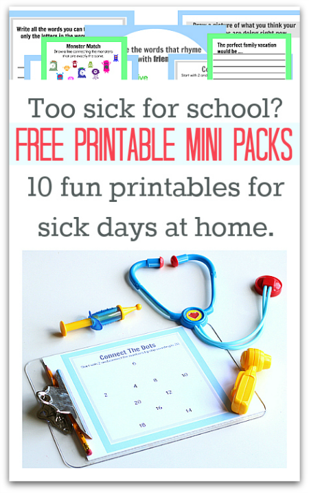 Too Sick for School Printables