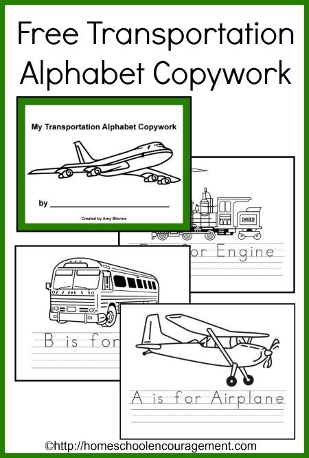 Transporation Copywork