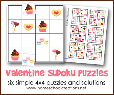 Valentine Sudoku Puzzles