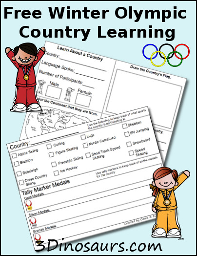 Winter Olympic Printables
