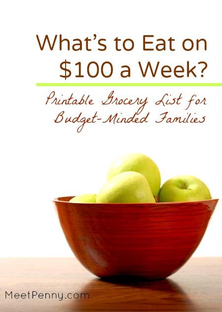 100 Week Grocery List