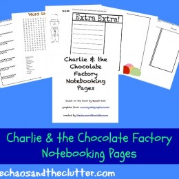 Free Charlie and the Chocolate Factory Notebooking Printables