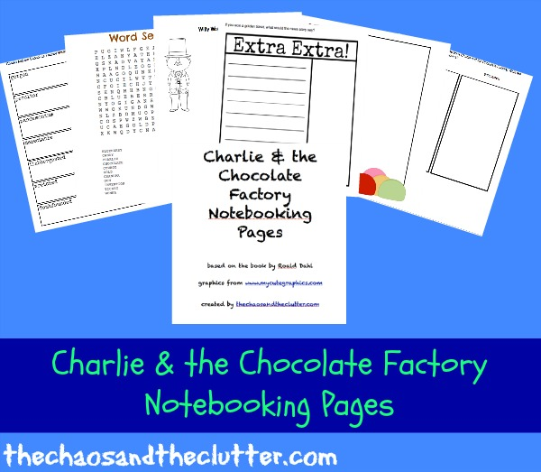 Charlie and the Chocolate Factory Notebooking Pages